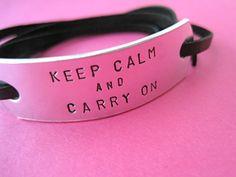 keep calm and carry on bracelet