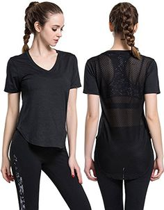 Campeak Women's Mesh Workout Hiking Short Sleeve Tee Quick Dry Yoga Gym Sport T-Shirt(Black-S)  Special Offer: $15.99  377 Reviews Brand:CAMPEAK Every sport needs a base of operations, and the maxim applies in your clothing needs, too. The Campeak Workout clothes for women...