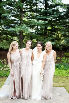 bridesmaids in pleats by http://www.bcbg.com/category/index.jsp?categoryId=2901570  Photography by perezweddings.com