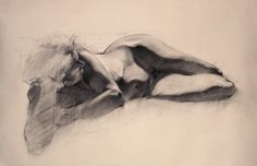 Billedresultat for classical life drawing reclining