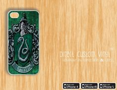 Iphone 4 - Iphone 4s - Iphone 5 - White - Harry Potter -Slytherin Green and Black V3 - Protective Case - Hard Case. $8.99, via Etsy.