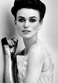 Keira Knightley - Even in black & white, this make up is divine. Stunning face also helps.