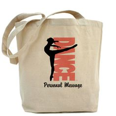 """Personalized Dance gear. Beautiful dance figure. Verticle """"Dance"""". Personalize the design with your own message."""