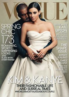 Kim Kardashian Covers 'Vogue' with Kanye West: 'Dream Come True'! Kim Kardashian and Kanye West look like they're about ready for their wedding on the cover of Vogue magazine's April 2014 issue. Kim Kardashian Kanye West, Kim E Kanye, Kanye West And Kim, Sarah Michelle Gellar, Sarah Jessica, Jessica Parker, Michelle Obama, Vogue Covers, Vogue Magazine Covers