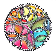 Zentangles + color - so cool!