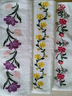 This Pin was discovered by Muk Embroidery On Kurtis, Hand Embroidery Art, Beaded Embroidery, Cross Stitch Embroidery, Embroidery Patterns, Machine Embroidery, Cross Stitch Borders, Cross Stitch Alphabet, Cross Stitch Flowers