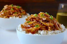 Take on the takeout with an easy slow cooker recipe for extra-moist pulled chicken teriyaki.