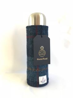 Harris Tweed Flask Cover and Flask by CarberryCrafts on Etsy https://www.etsy.com/uk/listing/572447003/harris-tweed-flask-cover-and-flask