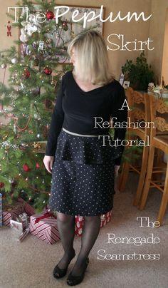 The Peplum skirt Refashion Tutorial
