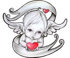 cherub angel tattoos | Cherub Tattoos | Tattoo Symbols,Tattoo News,Tattoo Magazine,Tattoo ...