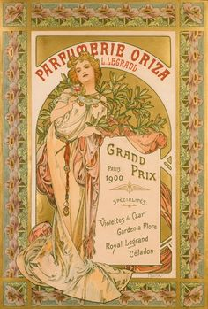 Alfons MUCHA Parfumerie Oriza c.1901