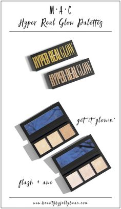 MAC has added 2 new face palettes to the permanent line: the Hyper Real Glow Face Palettes in Flash + Awe and Get it Glowin'. These highlighters are supposed to be super intense, but still natural. Did MAC pull it off? Click for my review and swatches!