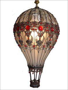 Baroque Hot Air Baloon Light Bulbs  Steampunk Tendencies Official Group