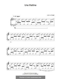 Una Mattina: For piano by Ludovico Einaudi