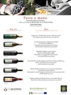 Fatto a Mano Dinner - Area News 2013 - Azienda Vinicola Bava - Vini rossi e bianchi di Langhe e Monferrato - Piemonte