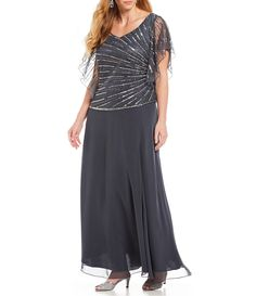 0197f2cf0c0 Adrianna Papell Plus Size Embellished Bodice Gown