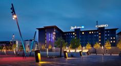 Radisson Blu Limfjord Hotel, Aalborg Aalborg Just 6 km from Aalborg Airport in North Jutland, this modern hotel offers free sauna access, free Wi-Fi and an in-house casino. Aalborg Train Station is 10 minutes' walk away.