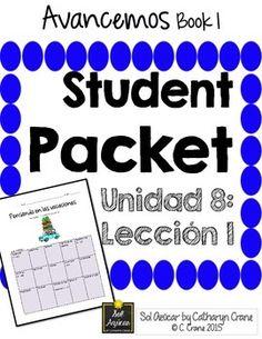 Avancemos 1 unit 3 lesson 2 entire chapter curriculum spanish avancemos 1 unit 8 lesson 1 student handouts notes fandeluxe Choice Image