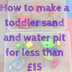 Confessions of a Cotswold Mum: How to make a toddler sand and water pit for less than Sand And Water Pit, Activity Ideas, Activities For Kids, Confessions, How To Make, Blog, Children Activities, Blogging, Petite Section