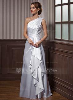 Evening Dresses - $104.99 - A-Line/Princess One-Shoulder Floor-Length Charmeuse Evening Dress With Cascading Ruffles (017021116) http://jjshouse.com/A-Line-Princess-One-Shoulder-Floor-Length-Charmeuse-Evening-Dress-With-Cascading-Ruffles-017021116-g21116