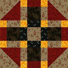 Quilt Block Patterns: Tic Tac Toe Quilt Block