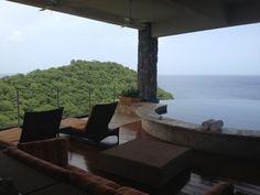 Jade Mountain, St Lucia Honeymoon Ideas, Honeymoon Destinations, Amazing Destinations, Caribbean Honeymoon, Jade Mountain, Backyard, Patio, 1 Place, Island Resort