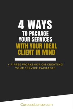 Don't you want to make money with your services? Are you still unsure how to package your services for your ideal client?… http://itz-my.com