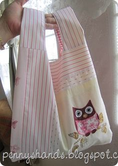 grocery bag. back side is different and it folds so it can be carried in purse