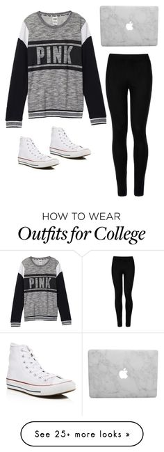 """Untitled #19"" by jasminstonemakin on Polyvore featuring Victoria's Secret, Wolford and Converse"