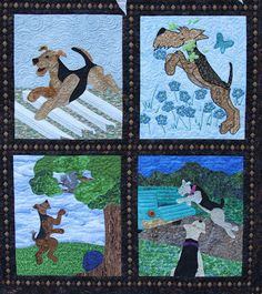 Airedale Rescue Quilting Bee: MORE CLOSEUPS OF THE QUILT