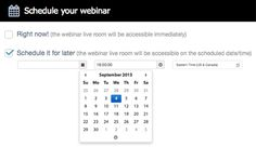 """With Webinar Jam you create your webinars """"on the spot"""", or schedule them for a later time!"""