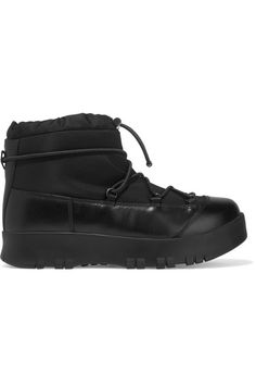 15878cab852 Prada - Leather-trimmed Canvas And Rubber Boots - SALE20 at Checkout for an  extra 20% off