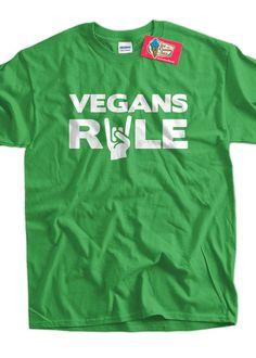 Vegan T-Shirt Veganism T-Shirt Hippie Earth Animal Rights Vegans Rule T-Shirt Tee Shirt T Shirt Mens Ladies Womens Youth Kids on Etsy, $16.78 CAD