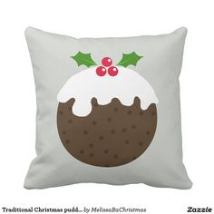 Traditional Christmas pudding cushion
