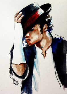 Michael Jackson Painting. The true and only King of music. :) ♥