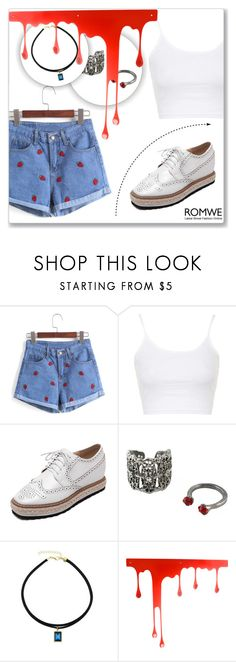 """ROMWE 1"" by abecic ❤ liked on Polyvore featuring Topshop, Pulpo and romwe"