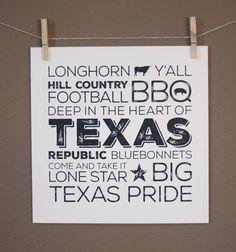 Texas Pride Art Print - Silk Screen - Every Print Unique