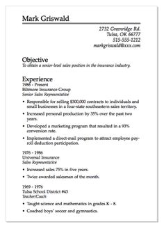 senior level resume