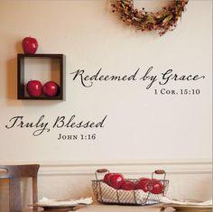 Redeemed by Grace - Vinyl Wall Art