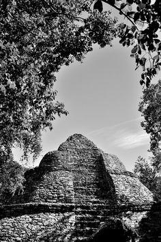 Coba Pyramid . Mexico