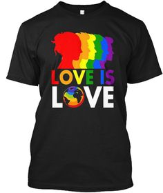 Lgbt Pride Shirt Bisexual Love T Shirt Black T-Shirt Front
