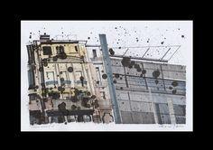 """""""Deconstructing Berlin"""" / ink, crayon, marker, pencil / 30 x 42 cm / 2016"""