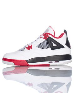 a6a44a67cd0b Jordan Kids Retro 4 Sneaker (Fire Red) (GS)