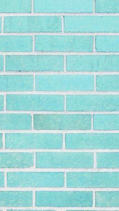 Tiffany blue brick iPhone wallpaper <3