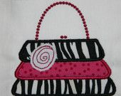 Ruffle Purse Applique Machine Embroidery Design