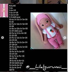 PONCİK TAVŞAN TARİFİ Origami, Crochet Hats, Teddy Bear, Dolls, Animals, Instagram, Baby Dolls, Lol Dolls, Knitting Hats