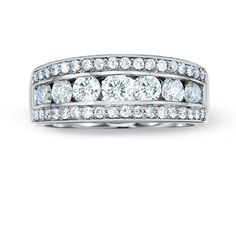 1 CT. T.W. Diamond Channel Band in 14K White Gold