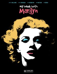 My Week With Marilyn by Sam Larson - Minimal Movie Posters; great movie