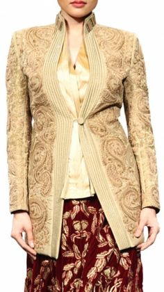Heavy applique embroidered jacket
