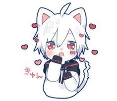 kobayashi-san chi no maid dragon elma chibi stiquer Dibujos Anime Chibi, Cute Anime Chibi, Cute Anime Guys, Anime Neko, Anime Art, Manga Anime, Neko Boy, Anime Cat Boy, Kawaii Drawings